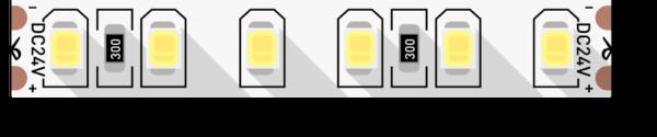 08f50a22d303d3973ef41d156bce4246 600x125 - Лента светодиодная стандарт 2835, 120 LED/м, 9,6 Вт/м, 24В , IP20, Цвет: Нейтральный белый