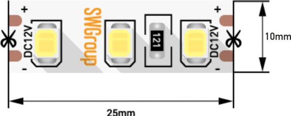1ccd620fe8b0be05feb38a535d628649 600x240 - Лента светодиодная стандарт 2835, 120 LED/м, 12 Вт/м, 12В , IP20, Цвет: Теп.белый