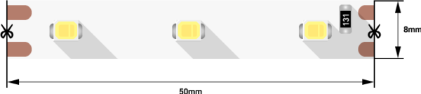 1eb9bb109b7c4bb34c4acd5c4f8b9151 600x135 - Лента светодиодная эконом 2835, 60 LED/м, 4,8 Вт/м, 12В , IP20, Цвет: хол. белый
