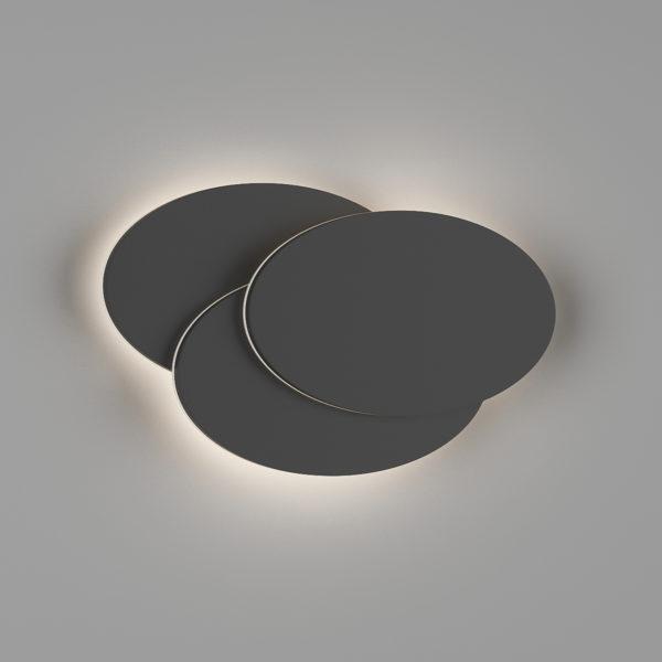 267abf98d3c1024720d3132cbc3ee8d9 600x600 - Настенный светильник O-SHADE, черный, 12Вт, 3000K, IP20, GW-6809R-12-BL-WW