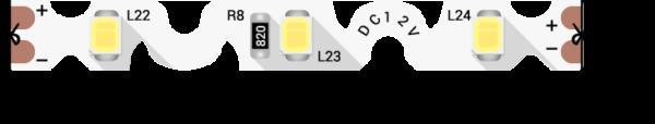 2c06bd2008ec190cd5c66907f4e8a0b5 600x114 - Лента светодиодная стандарт 2835, 60 LED/м, 9 Вт/м, 12В , IP20, Цвет: Ультра хол. белый