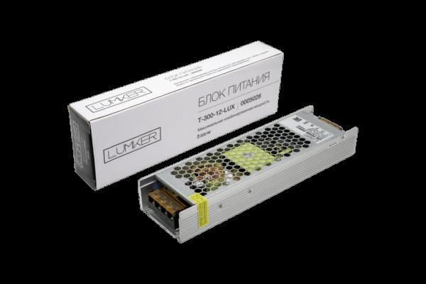 34e80500422ff415d8907646387ded95 600x400 - Блок питания для светодиодной ленты LUX компактный, 12В, 300Вт, IP20