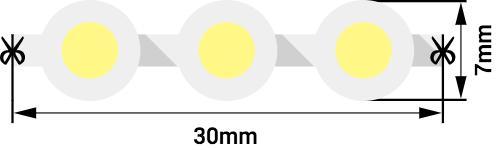 35e569ae06d467aec0b443d568b16585 - Лента светодиодная  DIP 5мм, 96 LED/м, 7,7 Вт/м, 12В , IP68, Цвет: Зеленый, 970мм