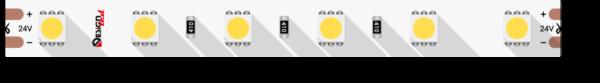 3bfed60ad9977edbcfa8ea395eb7bd12 600x83 - Лента светодиодная LUX, 5050, 60 LED/м, 14,4 Вт/м, 24В, IP33, хол. белый (6000K)