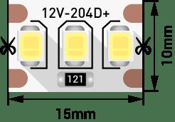 3d09ae8739ccd0bd1420e16c3bac94d8 - Лента светодиодная стандарт 2835, 204 LED/м, 22 Вт/м, 12В , IP20, Цвет: хол. белый