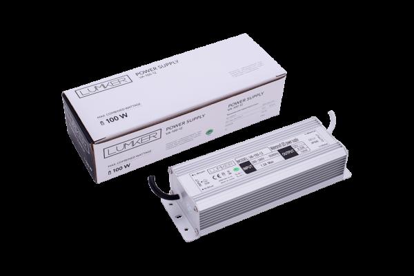 3fd57fd5d67c63ce7f4e8f37171494d8 600x401 - Блок питания для светодиодной ленты LUX влагозащ., 12В, 100Вт, IP67