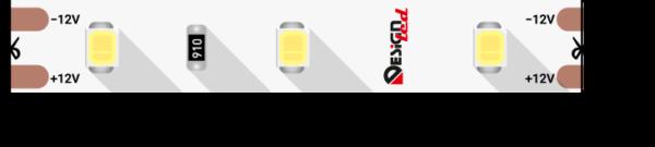 4271817fdac324f0fd5311d20ea7b82f 600x135 - Лента светодиодная LUX, 2835, 60 LED/м, 7,2 Вт/м, 12В, IP33, (4000K)