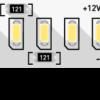 515a406cb370a85fe119ed3c159726b2 100x100 - Лента светодиодная стандарт 3014, 240 LED/м, 24 Вт/м, 12В , IP20, Цвет: хол. белый