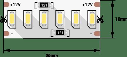 515a406cb370a85fe119ed3c159726b2 - Лента светодиодная стандарт 3014, 240 LED/м, 24 Вт/м, 12В , IP20, Цвет: хол. белый