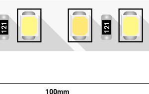 52e3812620c6e775efb792345eac35b7 300x190 - Лента светодиодная ПРО 2835, 120 LED/м, 14,4 Вт/м, 24В , IP20, Цвет: Теп.белый+хол. белый