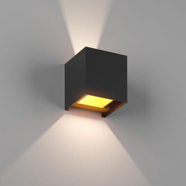56fad61ee211ad18c6fb8283fe45eebb 600x600 - Настенный светильник BIG-KUB, черный, 12Вт, 3000K, IP65, LWA803L-BL-WW