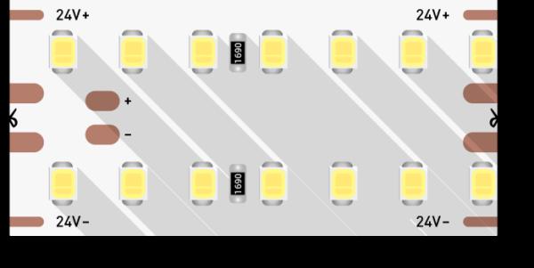 600eccf989cc4d991ff462ff085bc0d9 600x301 - Лента светодиодная LUX, 2835, 280 LED/м, 25 Вт/м, 24В, IP33, (4000K)