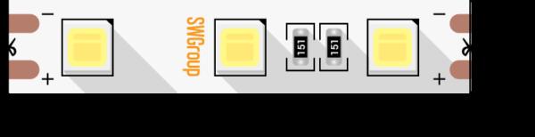 60ce965ec68fd1f446c1fdfbd2410b93 600x154 - Лента светодиодная стандарт 5054, 60 LED/м, 14,4 Вт/м, 12В , IP20, Цвет: хол. белый