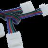 6b9a8247bcc31f9f669862bd73fe24b2 100x100 - Коннектор для ленты RGB  двуxсторонний (Ш 10 мм,L провода 15 см )