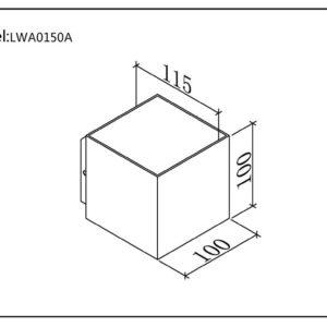 7051e13384a9df117e7ef1f46aa81bde 300x300 - Настенный светильник WELLS, белый, 12Вт, 3000K, IP54, LWA0150A-WH-WW