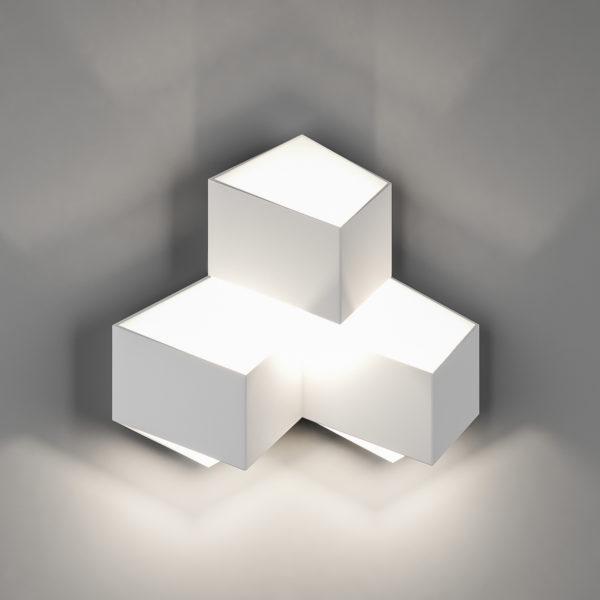 7389486931e62ad5cbdd7a6880c8e9e9 600x600 - Бра декоративное PALMIRA, белый, 9Вт, 3000K, IP20, GW-1101-3-9-WH-WW