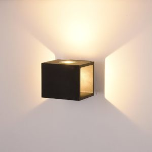 7a6156fef91b9ba5a5503b6fa4061b9b 300x300 - Настенный светильник KUB, черный, 10Вт, 3000K, IP54, LWA0100A-BL-WW
