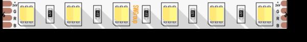 8379a2f4e7ed3ad99a5060141a409226 600x83 - Лента светодиодная  5050, 60 LED/м, 14,4 Вт/м, 24В , IP20, Цвет: Теп.белый+хол. белый
