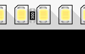 8b31b706f572f103bef4f9a3e0e323a6 300x190 - Лента светодиодная ПРО 2835, 160 LED/м, 14,4 Вт/м, 24В , IP20, Цвет: хол. белый
