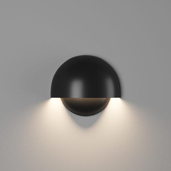 905d8d347ca483e6ea20fb75e37f3d4e 600x600 - Настенный светильник MUSHROOM, мат. черный, 10Вт, 3000K, IP54, GW-A818-10-BL-WW