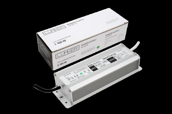 9408ba2b6fb5f5775d0041c67147e7ad 600x400 - Блок питания для светодиодной ленты LUX влагозащ., 24В, 100Вт, IP67