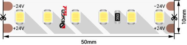 a2cfdf1fec9b939615002ff889b7ddfd 600x147 - Лента светодиодная LUX, 2835, 120 LED/м, 14,4 Вт/м, 24В, IP33, хол. белый (6000K)