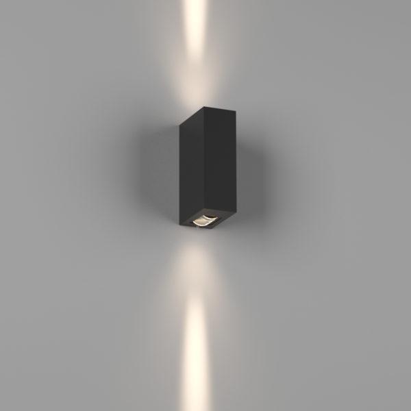 b81020ec49473a089d5e510025ebd47c 600x600 - Бра двухстороннее , черный, 6Вт, 3000K, IP54, GW-A151-2-6-BL-WW