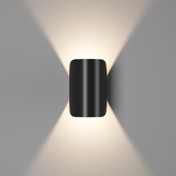 bb1a84adea17c188f772522d352bb349 600x600 - Настенный светильник VENTURA, мат. черный, 6Вт, 3000K, IP54, GW-A108-6-BL-WW