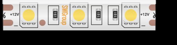 bba2c3b434aa4a14c2107bb76a7729d3 600x154 - Лента светодиодная стандарт 5050, 60 LED/м, 14,4 Вт/м, 12В , IP65, Цвет: Нейтральный белый