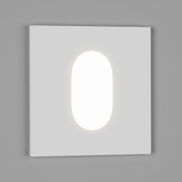 c7ade8435247be1a65a621b71c56a8f6 600x600 - Бра встр. fl S, белый, 1Вт, 4500K, IP20, GW-S612-1-WH-NW