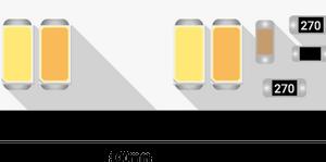 ce2e69fbdb9b03665ff48ceb93cff8d3 300x149 - Лента светодиодная LUX, 5730, 120 LED/м, 26,8 Вт/м, 24В, IP33, Теп.белый+хол. белый (2700-6000K)