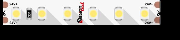 d0ce5af59234fadfb5ba1d50703d3733 600x135 - Лента светодиодная LUX, 3528, 120 LED/м, 9,6 Вт/м, 24В, IP33, Теп.белый (2700K)