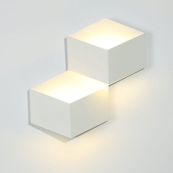 ed2e3363fcff498992e36a6dad4bb4a3 600x600 - Бра декоративное PALMIRA, белый, 6Вт, 3000K, IP20, GW-1101-2-6-WH-WW