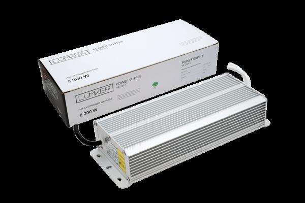 eeeaba78cec3c3737140ee8bca1045d0 600x400 - Блок питания для светодиодной ленты LUX влагозащ., 12В, 200Вт, IP67