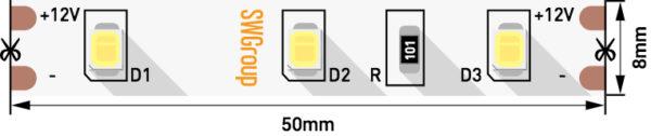f514a8d5b4d9f41bebfda6222cc5ef5f 600x126 - Лента светодиодная стандарт 2835, 60 LED/м, 6,3 Вт/м, 12В , IP20, Цвет: хол. белый
