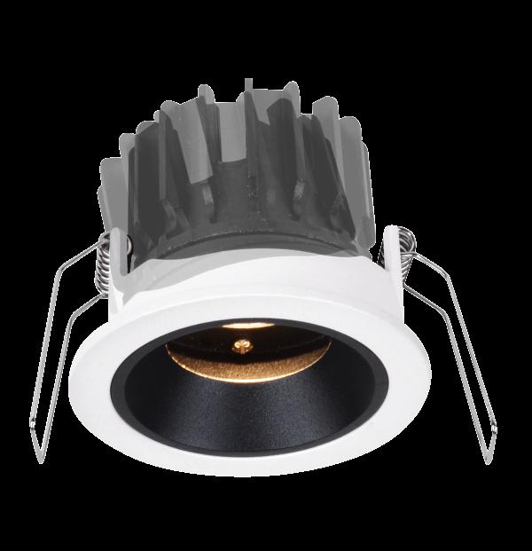 4ebd8f937c9bc5332e05ae3d79093ec1 600x621 - Светильник светодиодный потолочный встр. накл., FA, черно-белый, 10,4Вт, IP20, Теп.белый (3000К)