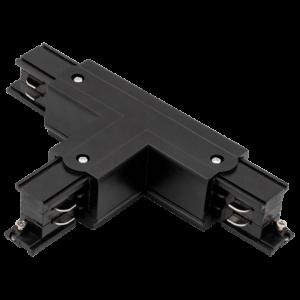 bca0f9e4b5ac5f615f25af4d40176f54 300x300 - T коннектор для трековых систем, правый, черный