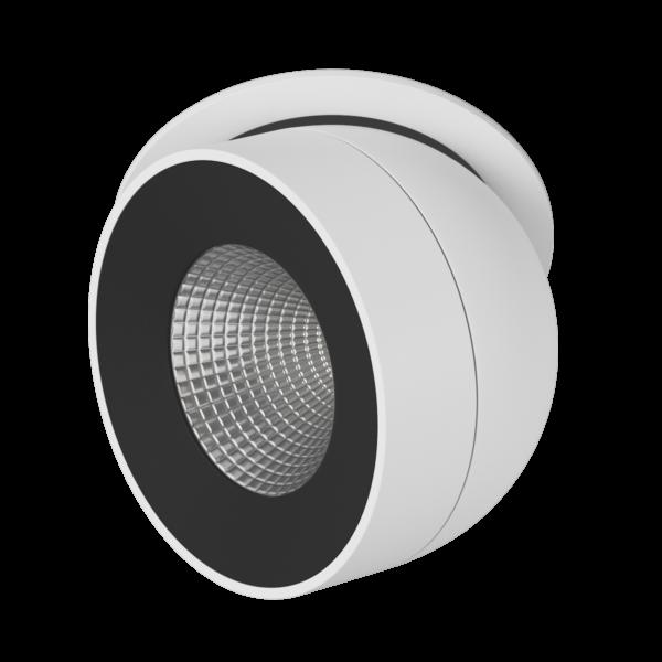 db4177cc14914868d38c348b5d4477e6 600x600 - Светильник светодиодный потолочный встр. поворотный, FA, черно-белый, 12,4Вт, IP20, Теп.белый (3000К)