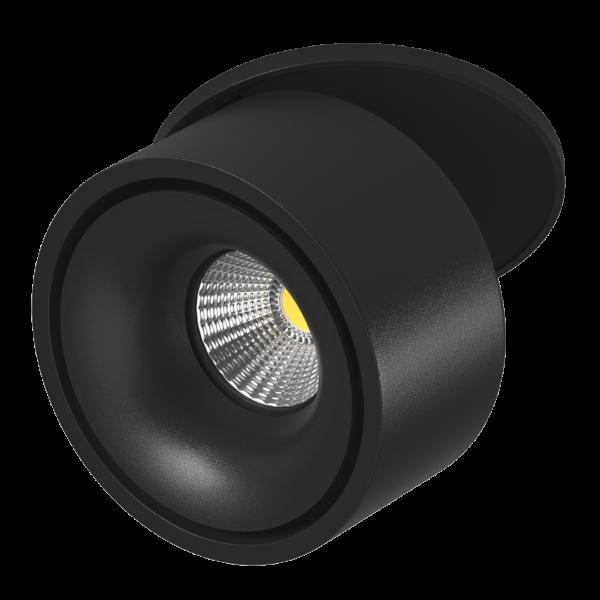 e6c76c83c0467902dcf07b2a70e923dd 600x600 - Светильник светодиодный потолочный встр. наклонно-поворотный, LK, Черный, 9Вт, IP20, Теп.белый (3000К)