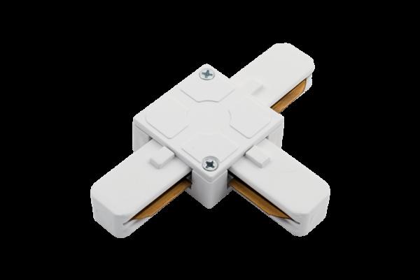 f938c14c16f0cb5f442f56b5fb2c8117 600x401 - T коннектор для однофазных трековыx систем, Белый