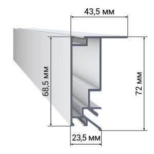 1 43 300x300 - Профиль LumFer BP01 Светильник LumFer, Безрамный потолок LumFer