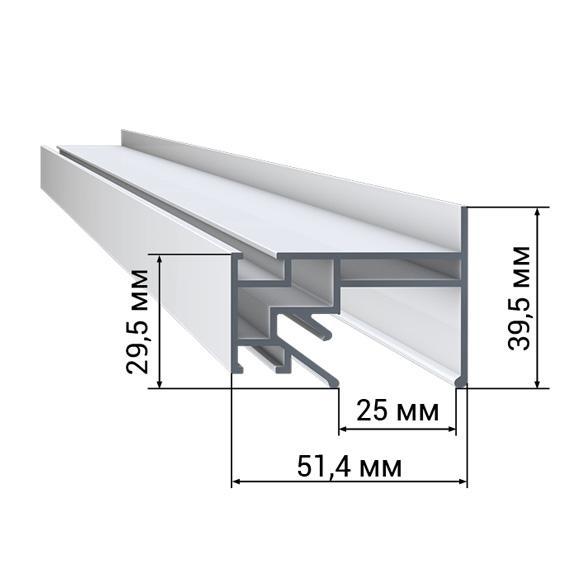Профиль LumFer PP01 «Парящий» потолок LumFer